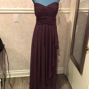 🔥🔥PRICE DROP 🔥🔥 David's Bridal Plum Dress